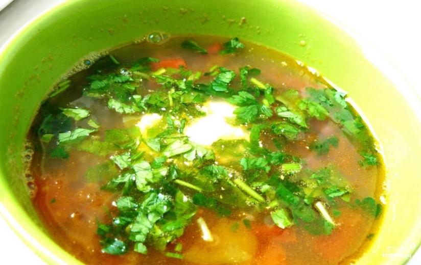Вегетарианский суп с фасолью