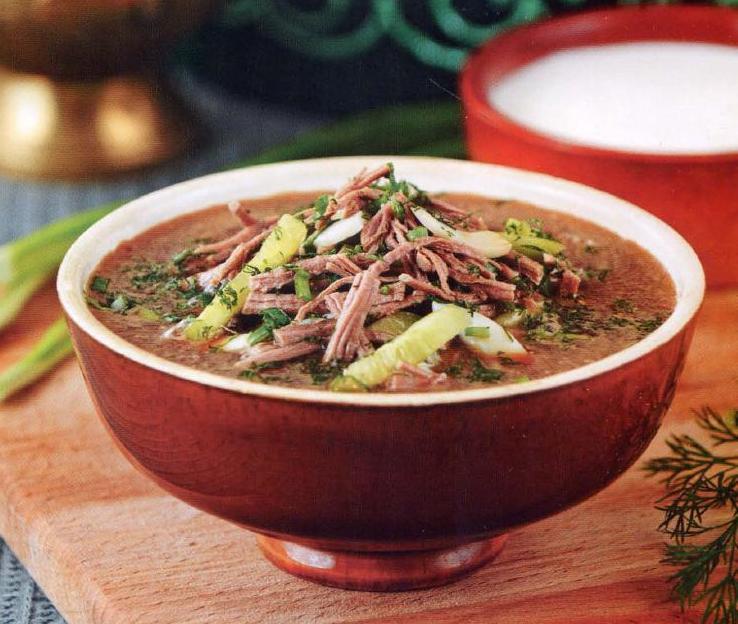 Татарский суп-окрошка