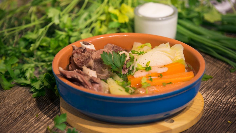 Праздничный татарский суп олюш