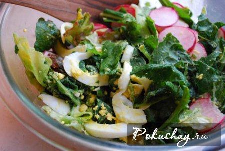 салат из зеленой редьки с фото