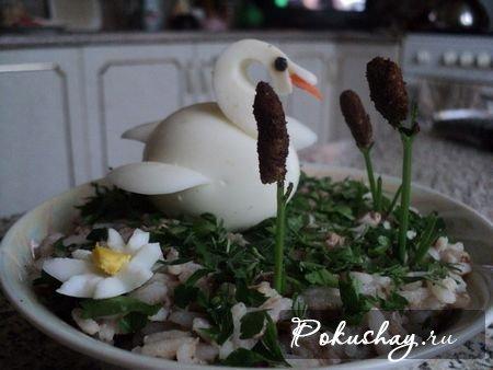 Салат лебедь с фото