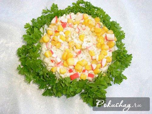 Фотография крабового салата