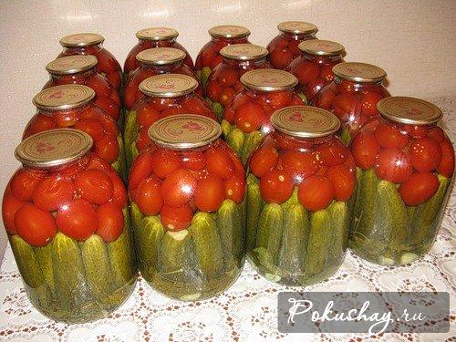 Рецепт огурцов томате на зиму фото