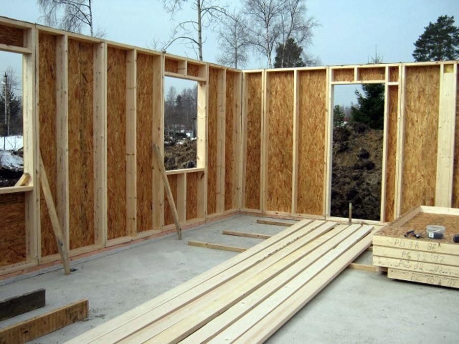 как сомому выстроить каркасно-щитовой дом