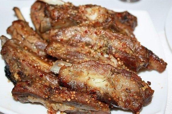 Свиные ребрышки в пикантном цитрусово-медовом маринаде