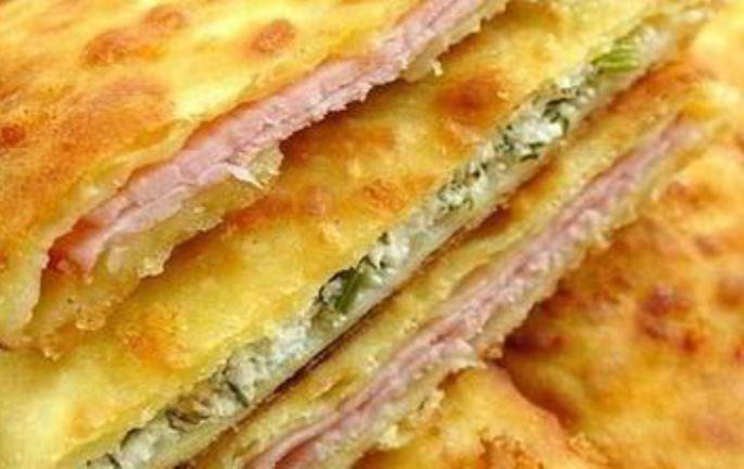 Сырные лепешки с разными начинками