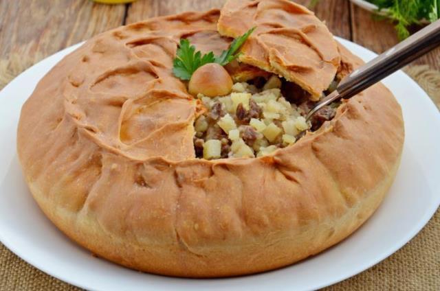 Татарский пирог зур бэлеш