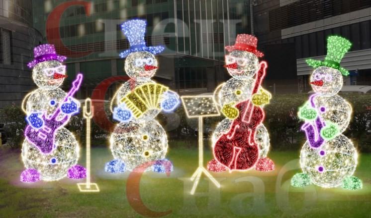 Светодиодные снеговики – лучшая идея для украшения к новому году