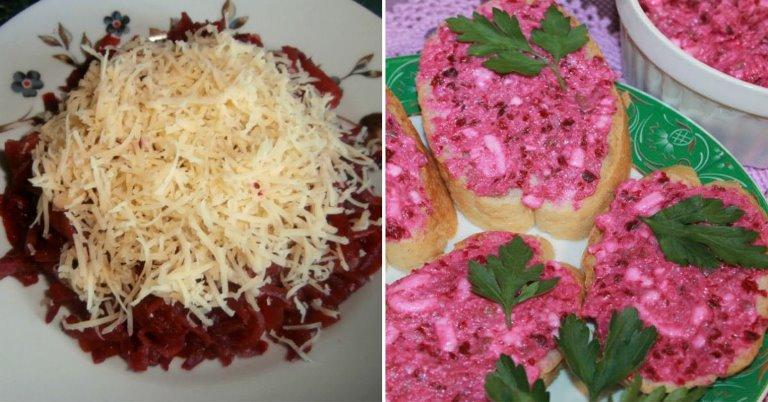 Рецепт салата намазки, которые придется по душе любителям свеклы